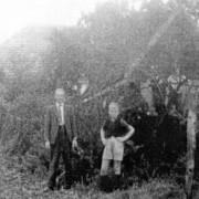 Kees Boxma 1946 met soldaat