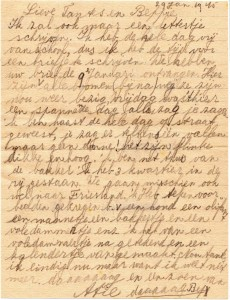 Brief Atie aan haar tantes Dirkse
