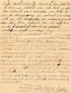 Brief van Jeany aan tantes Dirkse