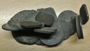 gesmolten zilveren muntjes 1945