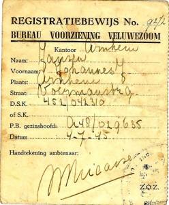 registratiebewijs bureau voorziening veluwezoom '45