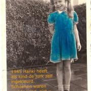 Hanki  1945 ze heeft de foto zelf ingekleurd