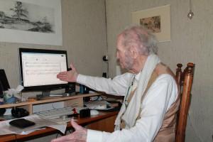 Daan Droogleever 97 jaar componeert met de computer 6 juni 2015
