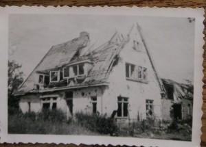 Het huis van de familie Ploeg bij thuiskomst in 1945